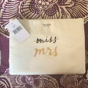 Kate Spade Gia Wedding Cosmetic Pouch NWT